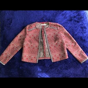 Red Patterned Jacket
